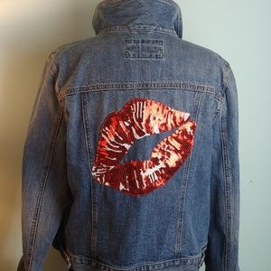 Lip denim jacket Loft Ann Taylor